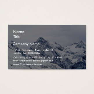 Alp Mountains In Snow Business Card