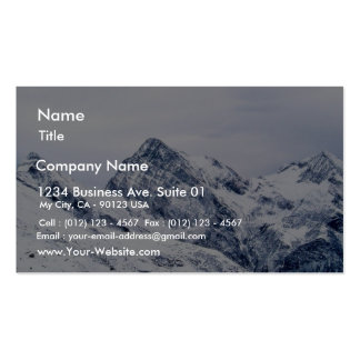 Alp Mountains In Snow Business Card Templates