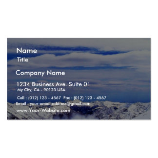 Alp Mountains With Blue Sky Business Card