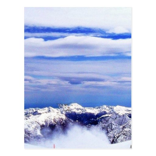 Alp Mountains With Blue Sky Postcard