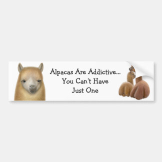 Alpaca Addiction Bumper Sticker Car Bumper Sticker