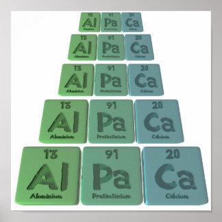 Alpaca-Al-Pa-Ca-Aluminium-Protactinium-Calcium Posters