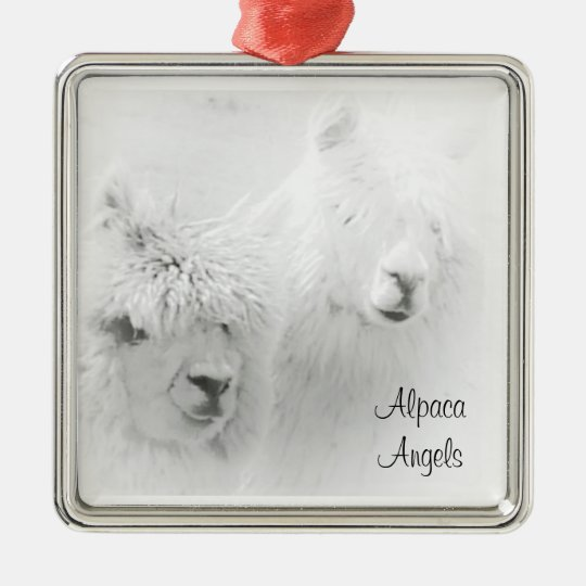 Alpaca Angels White Alpacas Ornament