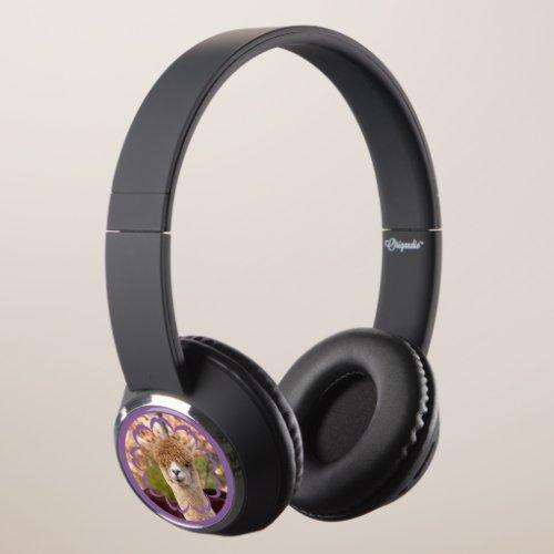 Alpaca Animal Photo Headphones