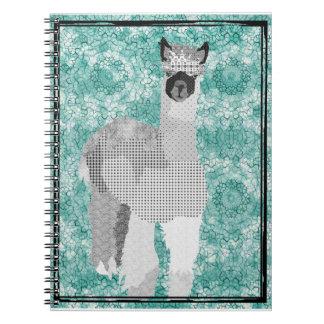 Alpaca Art Black & White Notebook