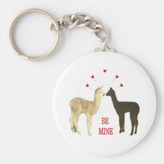 Alpaca be mine Valentine Keychain