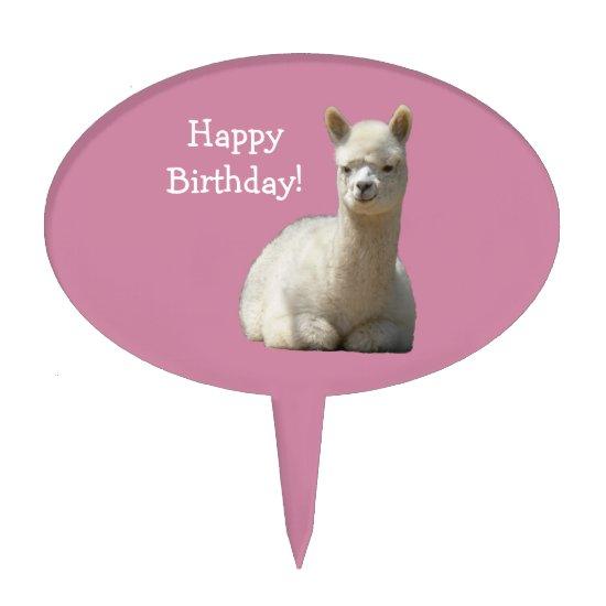 Alpaca Birthday Cakepick
