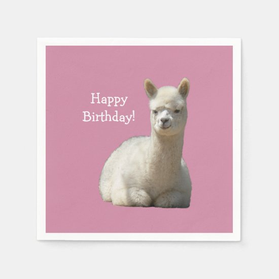 Alpaca Birthday Napkins