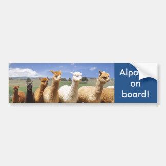 Alpaca Bumper Sticker Alpacas on Board