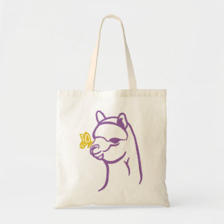 Alpaca & Butterfly Budget Tote Bag