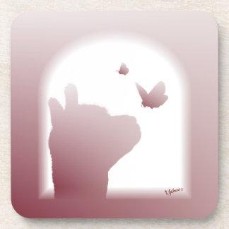 Alpaca Butterfly Cork Coasters