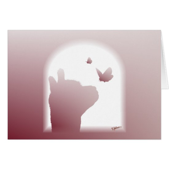 Alpaca Butterfly Silhouette Note Cards