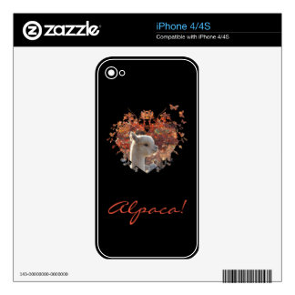 Alpaca Cell Phone Skins Skin For iPhone 4