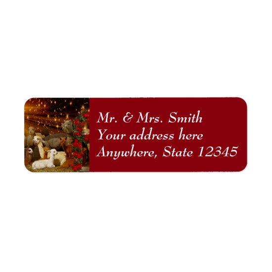 Alpaca Christmas Address Labels