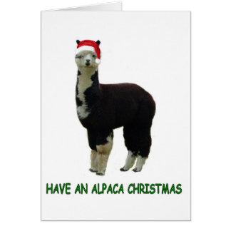 Alpaca Christmas Greeting Card