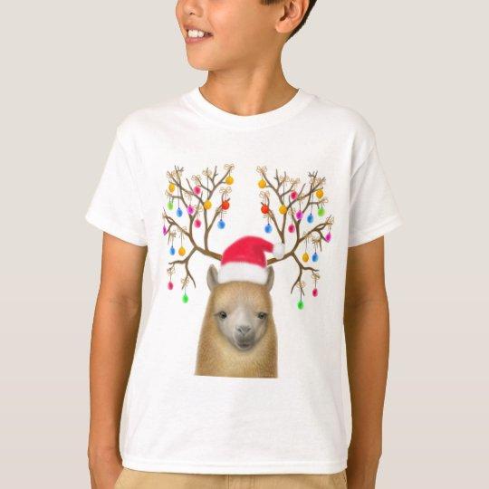 Alpaca Christmas Kids T-Shirt