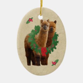 Alpaca Christmas Ornament