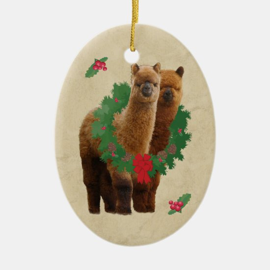 Alpaca Christmas Ornament