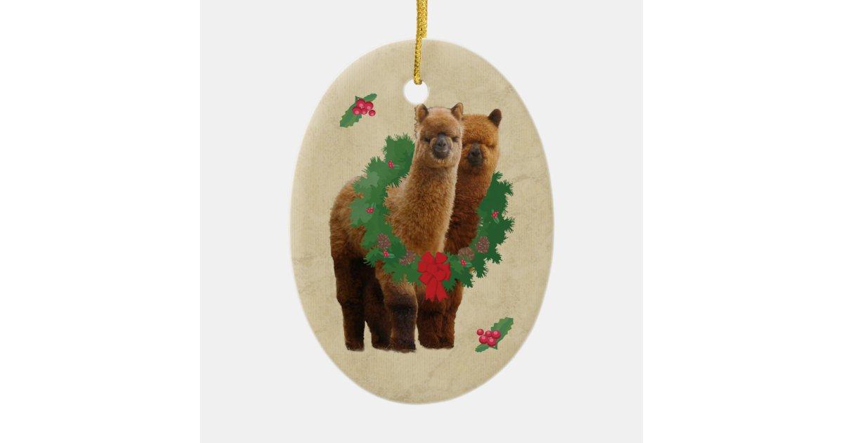 Alpaca Christmas Ornament | Zazzle.com