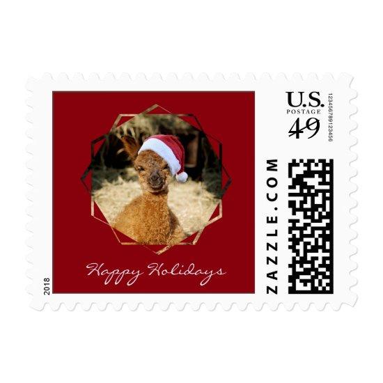 Alpaca Christmas Postage Stamps