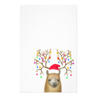 Alpaca Christmas Stationery