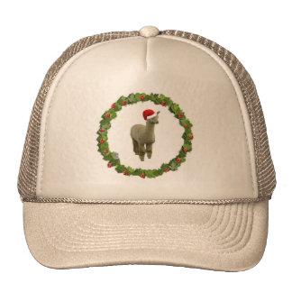 Alpaca Christmas Wreath Trucker Hat