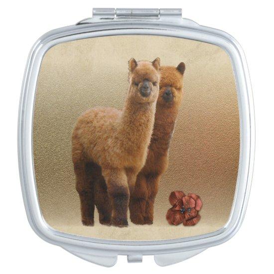 Alpaca Compact Mirror