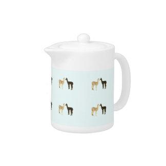 Alpaca Cria Meet Teapot