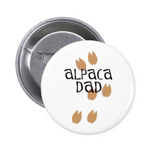 Alpaca Dad 2 Inch Round Button