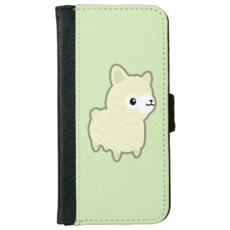 Alpaca de Kawaii Funda Cartera Para iPhone 6