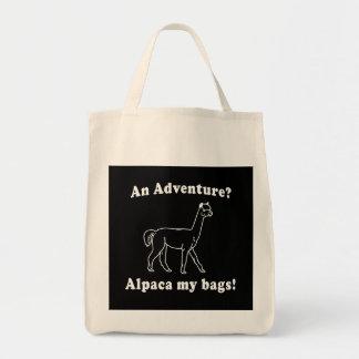 Alpaca de la aventura bolsa tela para la compra
