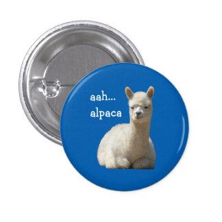 Alpaca del botón de la alpaca aah pin redondo de 1 pulgada