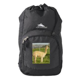 Alpaca del cervatillo mochila
