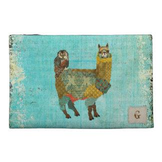 Alpaca del oro y bolso del accesorio del viaje del