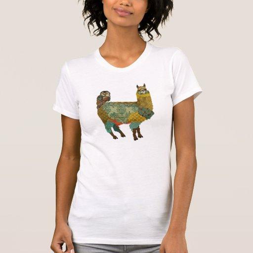 Alpaca del oro y camisa del búho del trullo