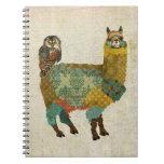 Alpaca del oro y cuaderno del búho del trullo
