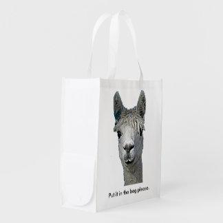 Alpaca Emu Reusable Grocery Bag