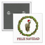 Alpaca Feliz Navidad Pins