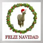 Alpaca Feliz Navidad Posters