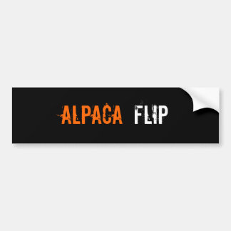 AlpacA, FliP Car Bumper Sticker