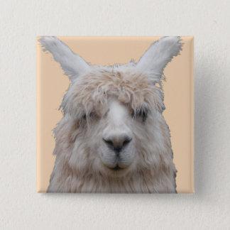 Alpaca from Peru Customizable Button