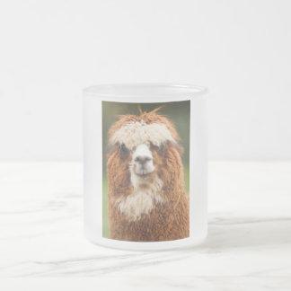 Alpaca Frosted Glass Coffee Mug