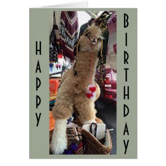"ALPACA GIVE ""BIRTHDAY ADVICE"" ON HOW TO ENJOY DAY CARD"