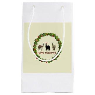Alpaca Happy Holidays Small Gift Bag