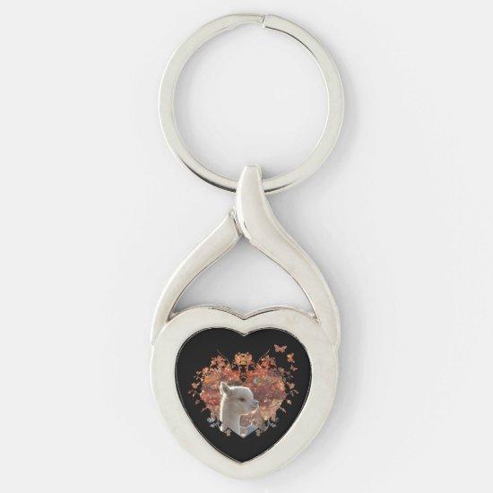 Alpaca Heart Keychain