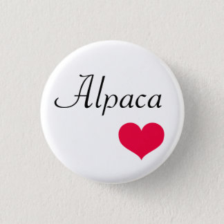 Alpaca heart pinback button
