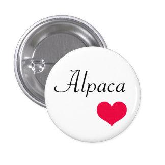 Alpaca heart pinback button