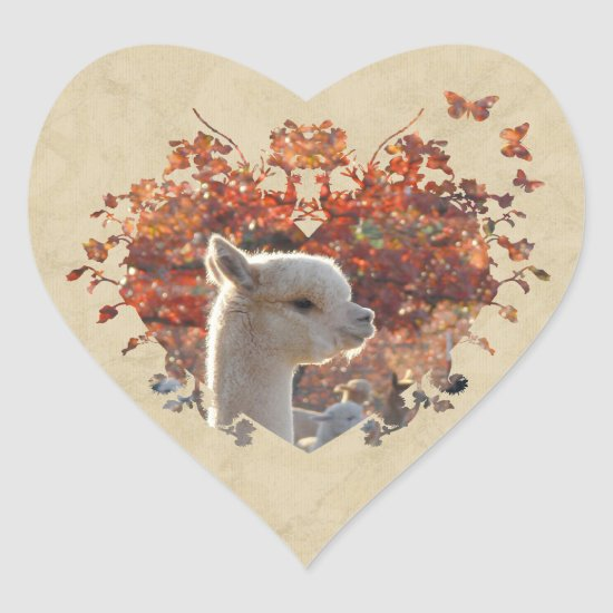 Alpaca Heart Stickers