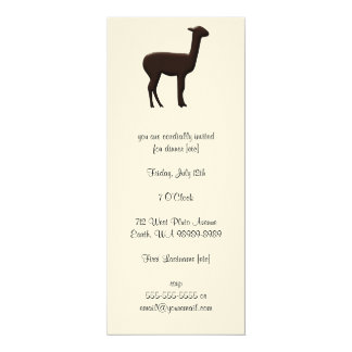 Alpaca 4x9.25 Paper Invitation Card