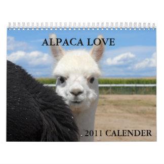 ALPACA LOVE 2011 CALENDER CALENDAR
